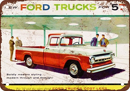 metal Signs 1957 Ford Trucks Vintage Look Reproduktion Metall Blechschild 30,5 x 45,7 cm