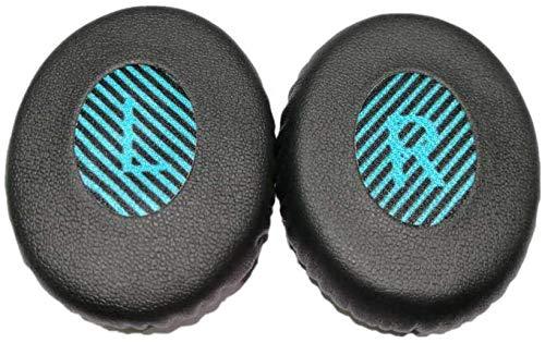 Adhiper Ersatz-Ohrpolster in Form von L- und R-Schriftzug, kompatibel mit Bose OE2 OE2i Soundtrue SoundLink On-Ear-Kopfhörer (schwarz)