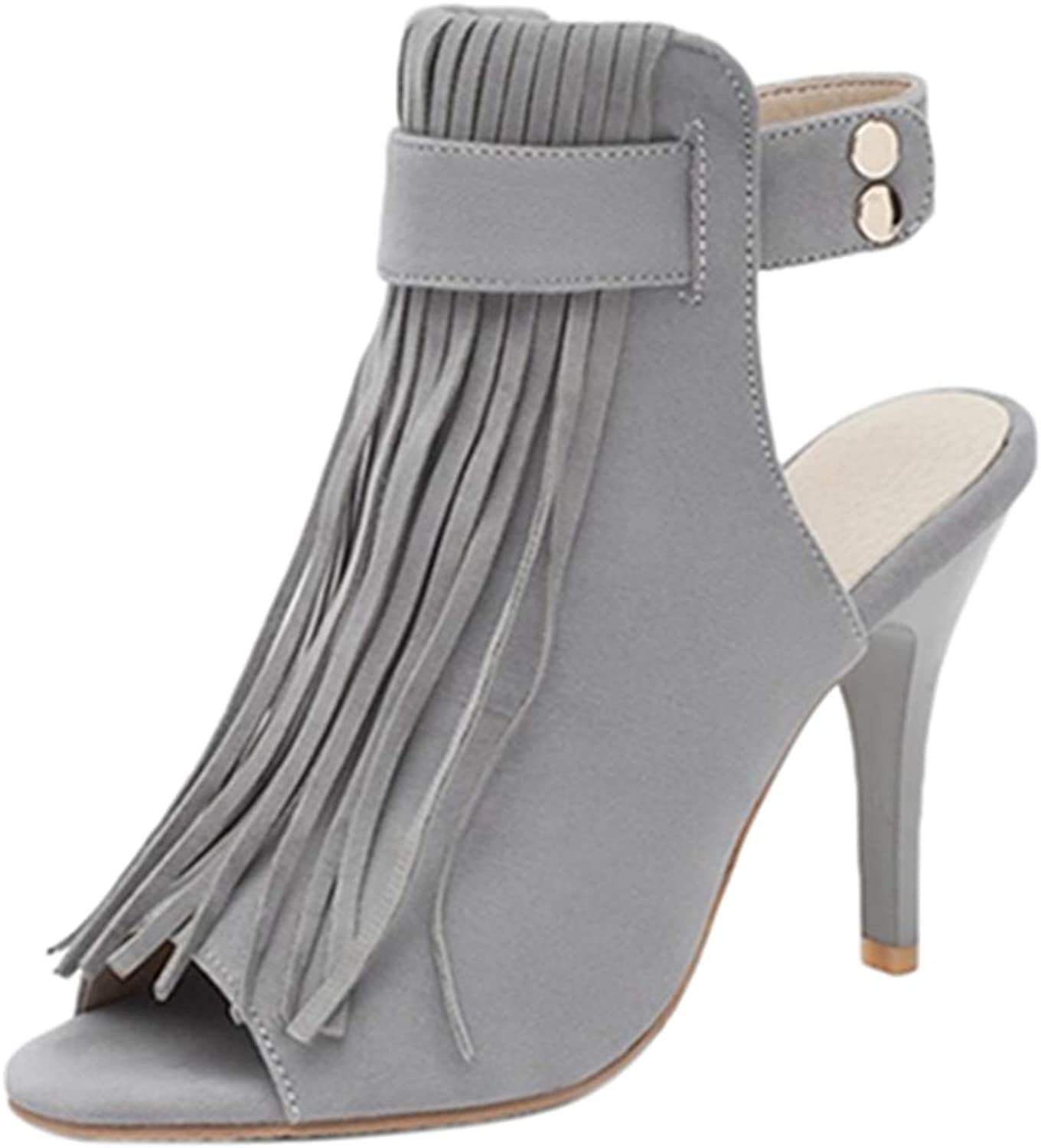 CUTEHEELS Women Boot Sandals with Open Toe and Stiletto