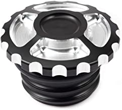 Lalaparts Black CNC Fuel Gas Tank Oil Cap Cover Compatible for Harley Touring Sportster Road King