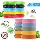 bestzy 20pcs braccialetti antizanzare naturale bracciale repellente bracciale in pelle zanzara insetti repellenti outdoor indoor per bambini, adulti, uomini e donne