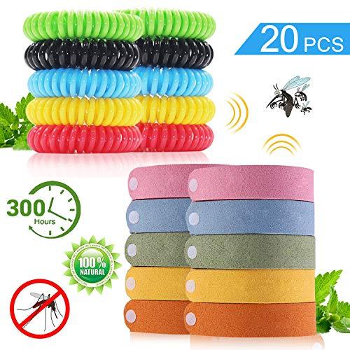 BESTZY 20PCS Bracelet Anti Moustique Bracelets Naturel...