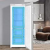 CHiQ FSD166NE4 Tiefkühlschrank 166 L | Gefrierschrank mit Dynamic Cooling-Funktion | LED-Beleuchtung | Wechselbarer Türanschlag | Schwarzer Edelstahl | A+| Sehr leise 42db - 2