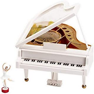 ZXCHB Kids Musical Piano Dancing Girls Rotating Music Box with Ballerina Theme Octave Musical Box