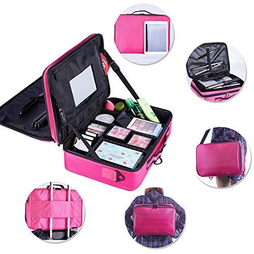 Yaunli Cosmetische tas Multifunctionele Draagbare Travel Make-up Case Cosmetische Tassen Toilettassen voor Tiener Meisjes Vrouw Make-up opbergdoos (Kleur : Rood)