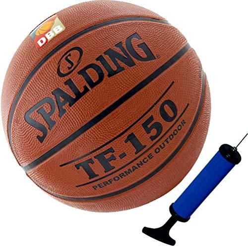 Spalding Basketball Outdoor mit DBB Logo Größe 7 + Ballpumpe