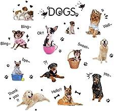 Adesivo de parede para cães BESPORTBLE com desenho de cachorrinho e zoológico com fundo de papel de parede para crianças, ...