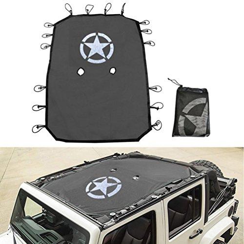 E-cowlboy Cab Cover 82215370 Car Cover for Jeep Wrangler JK JKU JL JLU 2007~2020 4-Door Black Oxford Sun Shade Car Cover Door Hard top Off 8104109