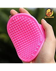 Foodie Puppies Pet Shampoo Brush | Soothing Massage Rubber Bristles Curry Comb for Dogs & Cats Washing | Professional Quality Hand Brush - 1 Piece (Color May Vary)