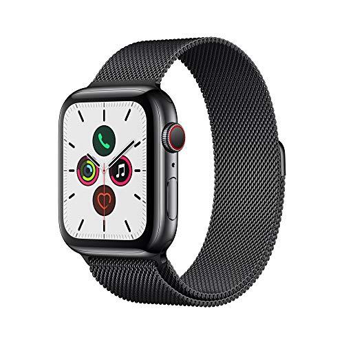 Apple Watch Series 5(GPS + Cellularモデル)- 44mmスペースブラックステンレススチールケースとスペースブラックミラネーゼループ