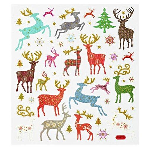 Hobby Design Sticker * Hirsche Rentier Reh Winter * Aufkleber