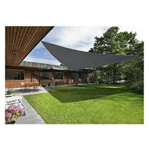 Toldo triangular para jardín, patio, jardín, patio, toldo de vela de 98 % con bloque UV con cuerda gratis, juego de accesorios para exteriores, patio, jardín, césped, 3,6 x 3,6 x 3,6 m