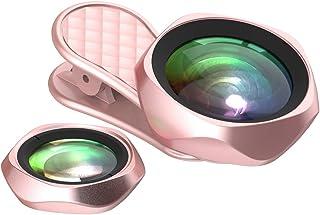 LIEQI JAPAN F-520 スマホ用カメラレンズ 広角レンズ iphone セルカレンズ メーカー保証12ヶ月付き (ピンク)