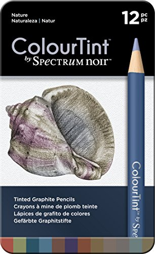 Spectrum Noir 12 Piece Nature Artist Pencil Set, Multicolor