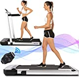 ANCHEER Treadmill, 2 in 1 Under Desk Treadmill, 2.25HP Electric Treadmill, Installation-Free with Bluetooth, Indoor Running Machine Compact Treadmill for Home & Office Use(2021) 1