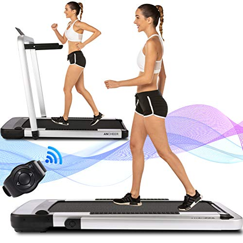 Product Image 1: ANCHEER Home Treadmill,2.25HP 2 in 1 Folding Treadmill,Under Desk Electric Treadmill with APP, Remote Control and LED Display, Jogging Walking Exercise Fitness Machine for Family & Office Workout