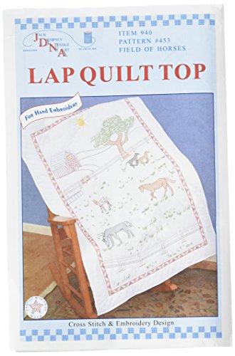 Jack Dempsey Stamped Blanc Couette Lap Top, Champ de Chevaux