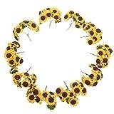 WINOMO 100pz Fiore Artificiale Girasole Bouquet Decorazione per Matrimonio Casa