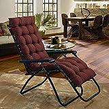 FGDSA Almohadillas de cojín para tumbonas colchoneta para sillas de Sol para Exteriores jardín terraza Alfombrilla clásica Alfombrilla de Repuesto Silla Gruesa reclinable Alfombrilla de relajación