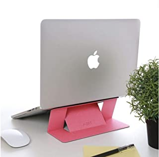 Adhesive Laptop Stand Pink [For Laptops Up To 15.6-Inch]