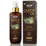 WOW Skin Science 100% Pure Castor Oil - Cold Pressed - For Stronger