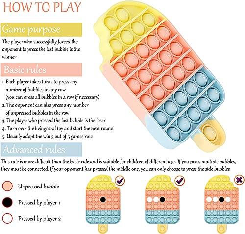 Push Pop Fidget Toys Bubble Keychain Sensory Toys Miniature Novelty Toys Anxiety Autism Early Educational Brain Development Toy Fidget Simple... 4