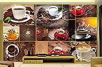 壁紙 壁紙3 dの壁紙絶妙なコーヒーテレビの壁の装飾絵画ロビースタジオ壁画壁紙-3D_200x140cm