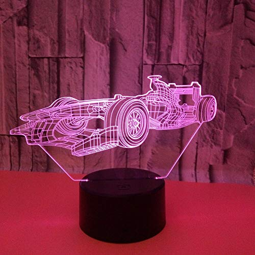 Only 1 Piece New Car 3D Light Colorful Touch Remote Control 3D LedAcrylic LampLed Night Light 3D Kids Lights Lamps