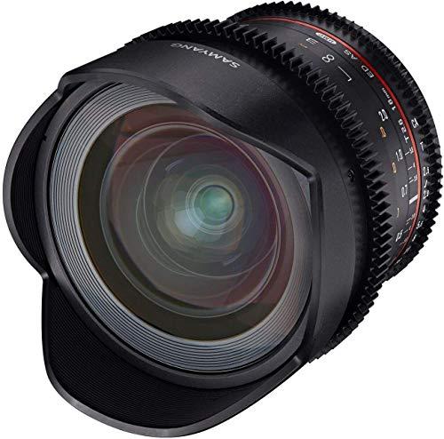 Samyang MF 16mm T2.6 Video DSLR Canon EF - manuelles Video Objektiv mit 16mm Festbrennweite für Vollformat oder APS-C Kameras mit Canon EF-Mount, ideal für Architektur und Landschaften