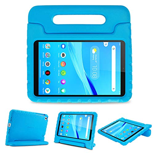 ProCase Kids Case for Lenovo Tab M8 HD/Smart Tab M8 / Tab M8 FHD 2019 Case, Shockproof Handle Stand Cover, Lightweight Kids Friendly Case –Blue