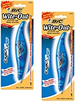 """wite-out正確なライナー補正テープペン、non-refillable、ブルー、1/ 5"""" x 236 2-Pack"""