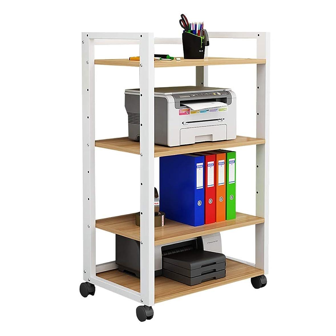 マカダム普及無駄だ調節可能な移動滑車/積層スペースが付いている4階建てのオフィスプリンター棚のオーディオ機器CDのキャビネット。 (Color : A)