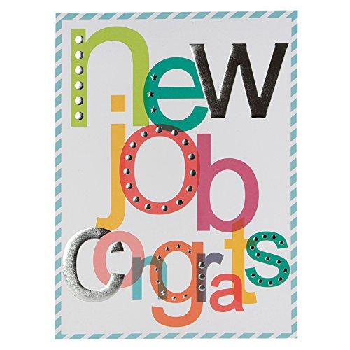 Hallmark verjaardagskaart voor nieuwe job humor zilverfolie reliëfkaart - groot