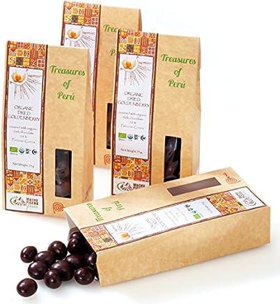ペルー 土産 ペルー ゴールデンベリー チョコレート 4箱セット (海外旅行 ペルー お土産)