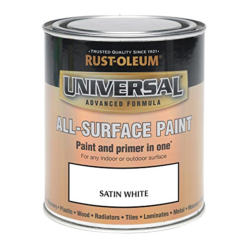 RUST-OLEUM AMZ0058 250ml Universal Paint-Satin White, 250 ml