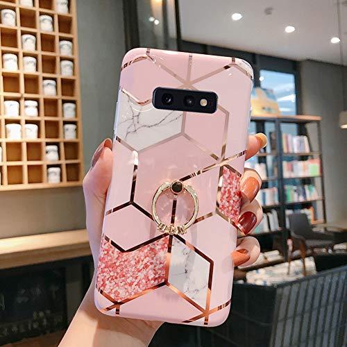 Kompatibel mit Samsung Galaxy S10e Hülle,Handyhülle Galaxy S10e Case Rosa Marmor Muster Ultradünn TPU Silikon Hülle Schutzhülle Crystal Clear Silikon Bumper Rückschale Case Cover,Design B