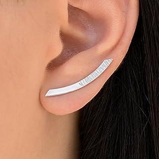 Par de pendientes de la plata esterlina minimalista oreja brazalete por Emmnauela