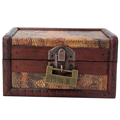 Estuche de almacenamiento de joyería con patrón de talla hermosa para colección valiosa colgante