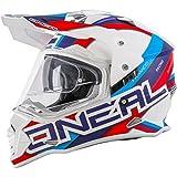 Oneal Sierra Helmet Circuit White/Blue Casco, Unisex - Adulto, 0817-303, Bianco, M