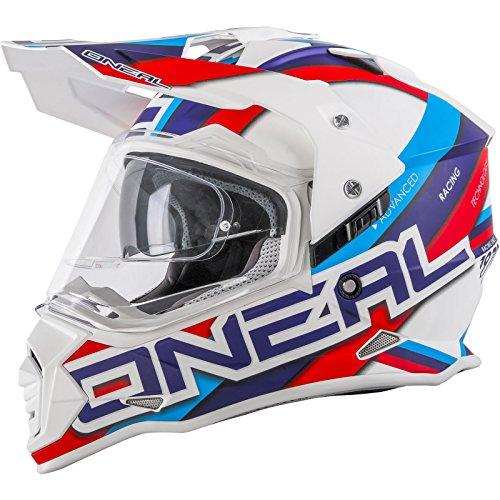 Oneal Sierra Helmet Circuit White/Blue Casco