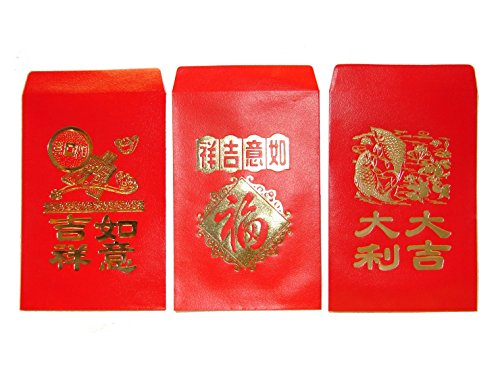 Chinese Classic Red Envelopes for All Occasions Pack of 50 with Three...