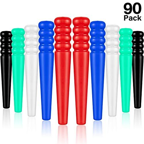Mudder 90 Stücke Kunststoff Cribbage Stift Konische Board Stift Ersatz für Cribbage Traditionelles Brettspiel, 5 Farben