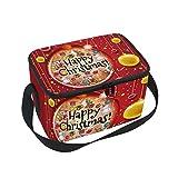 hengpai - Caja de almuerzo con diseño de bolas de Navidad para niños, mujeres y hombres