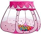 Bieco Prinzessinnen Kinderzelt für Drinnen | inklusive 100 Bälle | Prinzessin | Zelt Kinder | Spielzelt Mädchen | Princess Tent | Bällebad | Kinderspielzelt Mädchen | Spielzelt Kinderzimmer