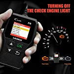 LAUNCH OBD2 Scanner CR319 Check Engine Code Reader with Full OBD2 Functions, Car Engine Fault Code Reader CAN Scan Tool… 14 【CHECK ENGINE LIGHT OBD2 SCANNER】The obd2 scanner CR319 full obd2 function scanner can fast read and clear trouble codes, check emission-related monitors, accurately pinpoint the problems of your vehicle, turn off the MIL (Malfunction Indicator Lamp), and reset the monitors. It enables you to fix the issues yourself, or enlighten you about what might happen before bringing in for repairing. Save your money! Save your time! OVER 200,0000 DIYER 's First Choice !!! 【READ AND CLEAR CODES READER】The lowest price obd2 scanner with full obd2 function scanner, including Read and erase code (Generic, Manufacturer Specific, and Pending Codes) and show code definitions, I/M Readiness, live date, Freeze Frame, Vehicle Information, O2 Sensors, EVAP, On-Board Monitor Test (Mode 6), Component Test, etc,which can help you find the hidden problems and simplify diagnosis, resolve the reasons which light up the engine light, and present you the status of the car engine. 【ONE-CLICK I/M READINESS & DTC LOOKUP】The code reader is equipped with One-Click I/M readiness, which makes it more efficient to check the emission state and readiness so as to have a clear idea about vehicle health status. To assist you in passing the emission test easily, the OBD2 code reader would make sure the monitors are all set. The built-in DTC library with a database of over 3000 code definitions, automatically displayed after reading. Read the definitions, solve the problems.