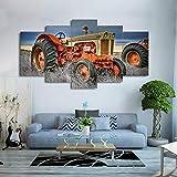 65Tdfc Stampe E Quadri su Tela 5 HD Stampa su Tela Trattore Agricolo Tela Foto Decorazione Stampa Poster da Parete Artista Pittura Decorativa