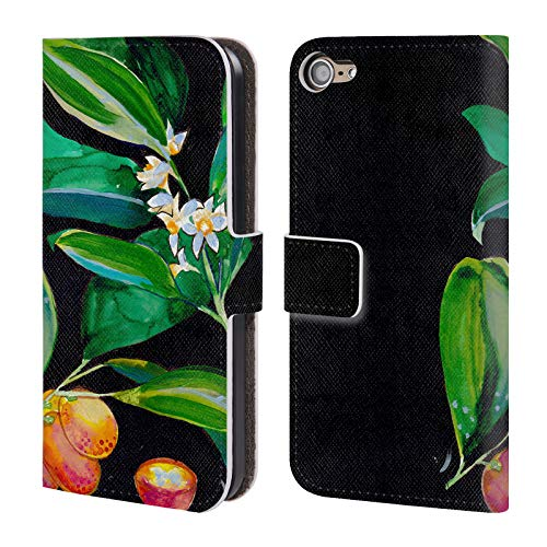Head Case Designs Offizielle Mai Autumn Kumquat Blaetter Leder Brieftaschen Huelle kompatibel mit Touch 6th Gen/Touch 7th Gen