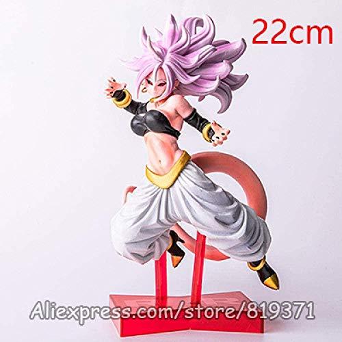 wxxsjfj Dragon Ball Fighter Z Android Battle Majin Buu 21th Girl Ultimate Form Ver PVC Figure Dragonball Figurine Collectible Toy 22cm-BUOUnv21.no-Buounv21.no