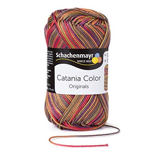 Schachenmayr Since 1822 Catania Color, 9801780-00209, Color: India, presentación: 50g, Hilos para Tejer a Mano