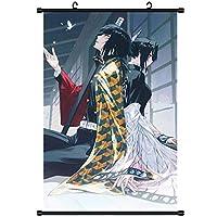 アニメファブリック絵画アートクロス家の装飾壁の巻物ポスター装飾的なアニメーション周辺機器鬼滅の刃 50x75cm